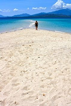 Puerto Princesa Philippines. Stay in shape and walk along the beach