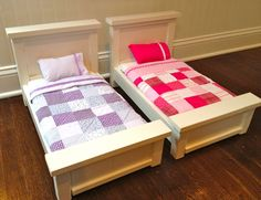 "How to make Mini beds for america girl dolls. That's My Letter: ""B"" is for Bed #8 & #9"