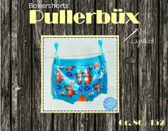 FREE: Euro sized pattern and instructions for boxer shorts in sizes 86-152 (18/24mos to 14Y). Construction variations can make this pattern unisex for boys/girls.  http://www.lynaed.de/tutorials/freebook-pullerb%C3%BCx/