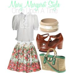 """get the look - mary margaret style"" by onceuponanovel on Polyvore LOVE THE SHOES"