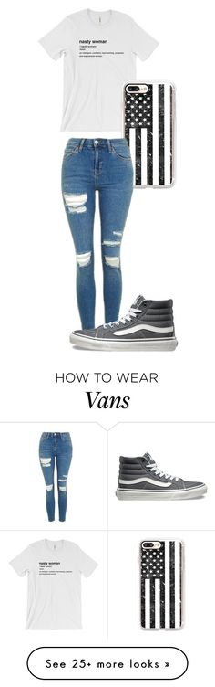 """Untitled #185"" by djgirl1116 on Polyvore featuring Casetify, Topshop and Vans"