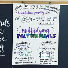 Multiplying Polynomials 💜💙💚