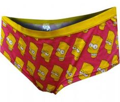 b7a3b046c84d Bart Simpson Faces Pink Panty. Hot Pink BackgroundWomen's UnderwearBart ...