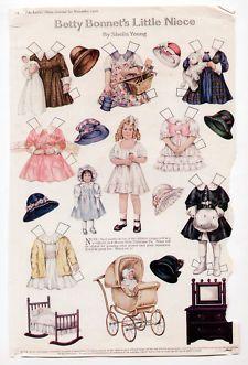 "1930's ""STAND-UPS"" DOLLS & CUT-OUTS UNCUT Paper Dolls"