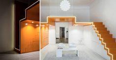 loft - appartement met vrouwelijke en mannelijke trap