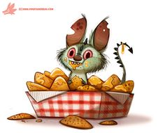 Daily Paint #1105. Chipacabra by Cryptid-Creations Time-lapse, high-res and WIP sketches of my art available on Patreon (: