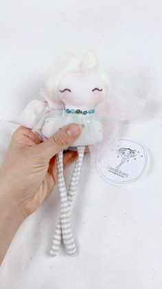 Tooth fairy / Fairy doll / Ornament Beautiful Fairies, Beautiful Dolls, Joy And Happiness, Fairy Dolls, Tooth Fairy, Handmade Dolls, Cool Baby Stuff, Cute Designs, Making Out