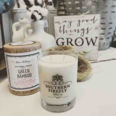 After a long week at work it's nice to come home and relax with my favorite candle #greenbamboo #relaxingweekend #southernfirefly #southernfireflycandle