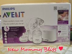 New Mommy Bliss ♥: Philips Avent Double Electric Comfort Breast Pump Review!