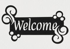 Free DXF file of Welcome Sign Insert. This file is a sample selection of our Premium DXF Files that contain collection of great DXF packages cut ready for cnc Fan Blade Art, Metal Welcome Sign, Name Plates For Home, String Art Templates, Cottage Signs, Cnc Wood, Laser Cut Files, Cnc Plasma, Outdoor Signs