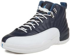 size 40 c9a27 33159 Mens Nike Air Jordan 12 Retro Basketball Shoes Obsidian   University Blue    White   French