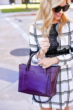 lace and plaid dress for fall