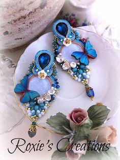 Funky Jewelry, Diy Jewelry, Jewelery, Jewelry Design, Fashion Jewelry, Women Jewelry, Black Earrings, Vintage Earrings, Earrings Handmade