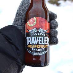 Winter refreshment. Traveler Grapefruit Shandy.