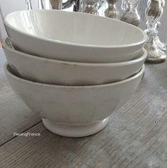 FleaingFrance.....antique cafe au lait bowls at fleaingfrance.com/shop