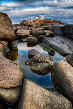 Nubble on the Rocks, York, Maine, USA by Jonathan Zdziarski on 500px