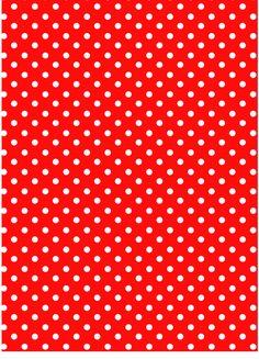 Ver producto: Modelo nº 350: lunares blancos sobre fondo rojo
