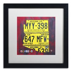 Arizona License Plate by Design Turnpike Framed Graphic Art