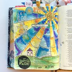 """This will be my last pic from the Shine retreat, I promise! This is the page I journaled Friday morning, inspired by the talk I gave on Isaiah 60:19-20. When I was a teenager, Isaiah 60:19 was my youth group's foundational verse: """"The sun shall be no more your light by day, nor for brightness shall the moon give you light; but the Lord will be your everlasting light, and your God will be your glory."""" At its most basic level, the sun is what sustains all life on earth. Isaiah 60 tells us…"""