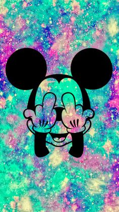 Grunge Mickey Mouse Galaxy Wallpaper #androidwallpaper #iphonewallpaper #wallpaper #galaxy #sparkle #glitter #lockscreen #pretty #pink #cute #aesthetics #girly #mickeymouse #disney #hipster #grunge #colorful