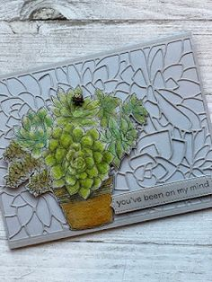 Succulent Pots, Succulents Garden, Card Making Inspiration, Paper Pumpkin, Flowers Nature, Stamping Up, Creative Cards, Greeting Cards Handmade, Stampin Up Cards