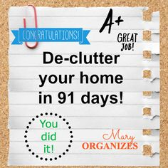 De-Clutter your home in 91 days!