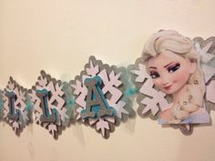 Frozen name banner by Fancymycupcake on Etsy