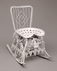 American   Found Object--Rocking Chair, ca. 1950  Painted and assembled metal parts  32 3/4 x 21 x 36 1/2 in. (83.19 x 53.34 x 92.71 cm)  The Michael and Julie Hall Collection of American Folk Art