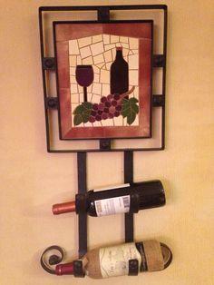 Porta botellas de vino Garden Art, Mosaics, Wine Rack, Barcelona, Home Decor, Mosaic Artwork, Bottles, Coat Hooks, Vases
