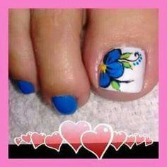 Hot Trendy Nail Art Designs that You Will Love Gel Toe Nails, Pedicure Nails, Toe Nail Art, Teen Nail Designs, Pedicure Designs, Hot Nails, Hair And Nails, Teen Nails, Painted Toes