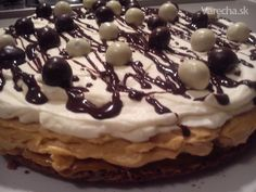 Karamelová torta (fotorecept) Ale, Pancakes, Cake Recipes, Baking, Breakfast, Food, Deserts, Bread Making, Breakfast Cafe