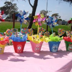 Birthday party centerpieces
