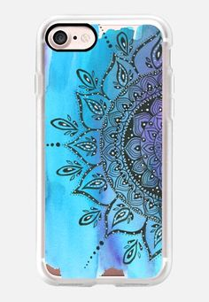 Casetify iPhone 7 Classic Grip Case - Blue  by Li Zamperini Art #Casetify