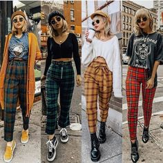 Where can I find plaid pants like these? Where can I find plaid pants like these? Retro Outfits, Vintage Outfits, Outfits Casual, Mode Outfits, Grunge Winter Outfits, Cute Grunge Outfits, Grunge Clothes, Summer Grunge, Grunge Party Outfit