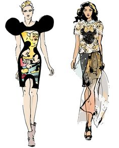 INSPIRED BY MINNIE  Disney icon the source of inspiration for designer's at London Fashion Week...