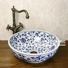China blue& weißem porzellan waschbecken schüssel-Waschbecken-Produkt ID:489287397-german.alibaba.com
