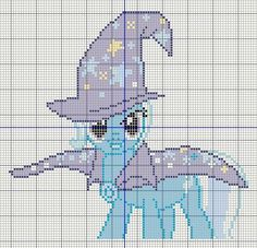 Buzy Bobbins: The Great and Powerful Trixie - My little pony Cross stitch design