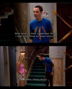 big bang theory 19 You asked for it, you got it. The Big Bang Theory photos) Tv Quotes, Movie Quotes, Funny Quotes, Funny Memes, Big Bang Theory Funny, Hello Kitty, Hello Hello, Best Shows Ever, Just For Laughs