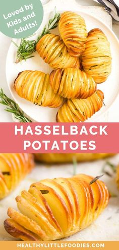 A cross between a baked potato, roast potato and a potato chip. Hasselback potatoes have satisfyingly crispy bits with a comfortingly fluffy interior. Dairy Free Recipes For Kids, Baby Food Recipes, Healthy Dinner Recipes, Toddler Recipes, Supper Recipes, Healthy Lunches, Healthy Kids, Potato Recipes, Vegetable Recipes