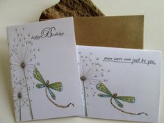 GREAT VALUE Set of Two Dragonfly Original by DreanasDragonflyPie