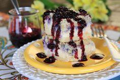 Blueberry Lemon Ricotta Cheesecake Bars from Our Best Bites