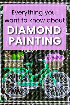 Check out this ultimate guide to diamond painting for all the information you need to start with this new craft. Start your first diamond painting DIY project. Learn new techniques, choose the perfect diamond shapes and size of the painting. Learn tips and tricks to perfect your craft. #diamondpainting #diycrafts New Crafts, Creative Crafts, Mosaic Projects, Craft Projects, Accessories Display, Canvas Designs, Do It Yourself Crafts, 5d Diamond Painting, Handmade Decorations