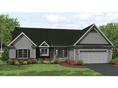 ePlans Ranch House Plan – Roomy Ranch with Style –1649 Square Feet and 3 Bedrooms from ePlans – House Plan Code HWEPL75951
