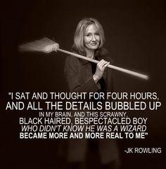 J.K. Rowling on Harry Potter.