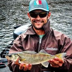 Reel Life Pro Staffer @Jasonwaynehunter with his very first Walleye. #reellife #letsgetreel #walleye #fishing #freshwaterfishing