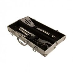 This elegant looking Barbeque Tool with Alm box is brought to you by Taz. It is 3 piece set made of sTeal. This tool has been designed in such a way that it will change the way of traditional cooking. The Alm box gives you the chance to protect the tools suitably after the usage. This tool is a must have in your kitchen.