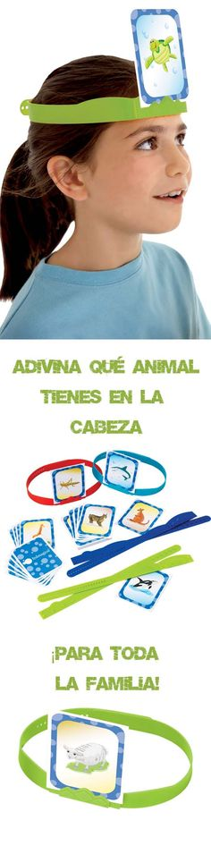 Board game for the whole family. The objective is to guess the unknown animal that the player carries on his head asking questions (yes or no) to the rest of the players game caseros para la familia Happy B Day, Spa Party, Teacher Tools, Family Day, Outdoor Games, Educational Games, Lets Play, Just Kidding, Summer Activities