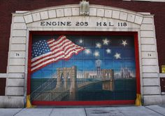 FDNY Engine 205 Hook & Ladder 118 Fire Station in Brooklyn Heights, New York.