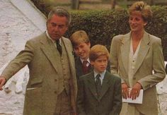 October 27 1993 Diana took William & Harry on a private visit to Cardiff, Wales for a cultural visit