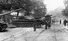 November Hungarian revolution meets a brutal end as Soviet tanks roll into Budapest Budapest, Where Is America, Tank Stand, Life Magazine, Magazine Photos, Red Army, European History, Cold War, Military History
